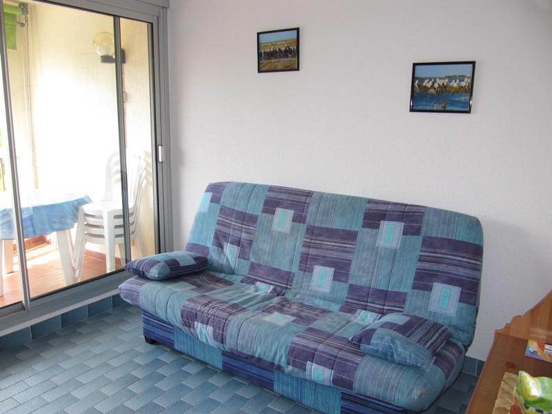 Studio cabine dans résidence face plage